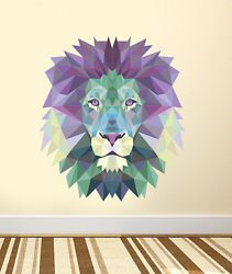 ced264 Full Color Wall decal Sticker Lion abstraction living room bedroom Living Room Bedroom, Kids Bedroom, Dream Bedroom, Bedroom Ideas, Animal Wall Decals, Wall Decal Sticker, Wall Colors, House Colors, Vinyl Decor