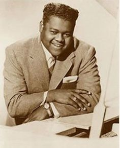 Musical Birthday Notes – February Fats Domino –New Orleans rock-R&B pianist/singer/songwriter – hits include – Blueberry Hill – I Want To Walk You Home – Ain't That A Shame – I'm Wa… 60s Music, Blues Music, Music Icon, Jazz Music, Rock And Roll, Tempo Music, Sock Hop, Rhythm And Blues, Types Of Music