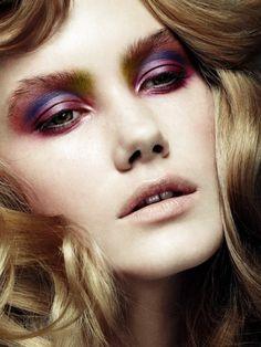 "A few gorgeous looks from twenty6 magazine editorial ""Eco Kit"" using Couleur Caramel eyeshadows"