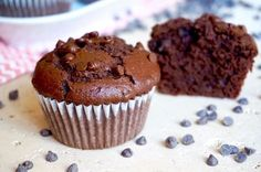 The Busy Baker: Double Chocolate Zucchini Muffins Cupcakes, Cannoli, Double Chocolate Zucchini Muffins, Sweet Coffee, Feel Good Food, Cake Recipes, Bakery, Food And Drink, Favorite Recipes