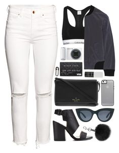 """""""Geen titel #398"""" by s-ensible ❤ liked on Polyvore featuring H&M, Miss Selfridge, Kate Spade, MM6 Maison Margiela, ASOS, Rebecca Minkoff, Korres, Samsung and MANGO"""