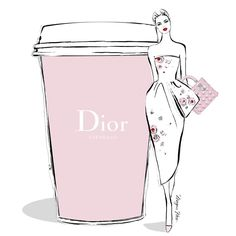 Megan Hess. I'm easing into Monday morning with an elegant cup of DIOR ESPRESSO!