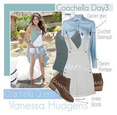 """Coachela Style: Day 3"" by vanjazivadinovic ❤ liked on Polyvore featuring Yves Saint Laurent, VanessaHudgens, sammydress, polyvoreeditorial and coachellastyle"