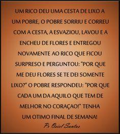 Pr Osiel Santos: Cada um da o que tem.