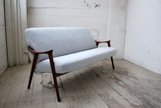 Danish Modern Compact Sofa Restored by MadsenModern on Etsy,1600.00