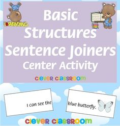 Basic Structures Learn to Read  Sentence Joiners - 8 pages center activity. $