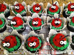 Ladybug Cake Pop Cupcakes