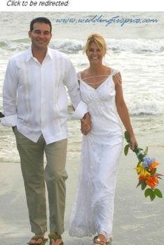casual mens wedding attire ideas - Google Search http://davasion.com/style/1262/beach-wedding-attire-guayabera-guayabera-shirts-havana-shirts-mens-hawaiian