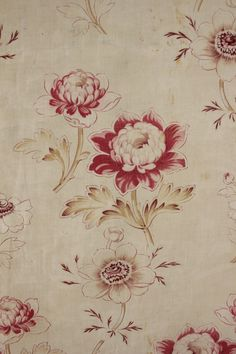 Antique French faded floral timeworn aged fabric c1890 faded shabby chic  in Antiques, Linens & Textiles (Pre-1930), Fabric, Cotton | eBay