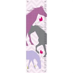 @rosenberryrooms is offering $20 OFF your purchase! Share the news and save!  Modern Horses in Purple Growth Chart #rosenberryrooms