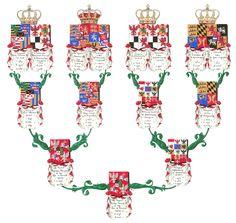 Arbre généalogique du roi de Pologne | art-du-blason.com.