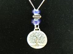 tree of life pendant with lampwork bead accents