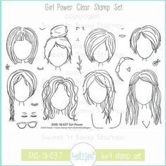 Girl Power Clear Stamp Set - Sweet 'n Sassy Stamps