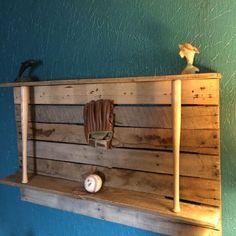 For Sale: Reclaim wood Baseball trophy shelf. - Monroe County, IN . Baseball Shelf, Baseball Trophies, Baseball Display, Baseball Crafts, Baseball Room Decor, Boys Baseball Bedroom, Baseball Furniture, Baseball Memes, Baseball Girls