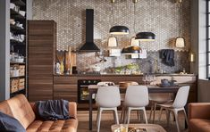 A kitchen fit for open plan living - IKEA Ikea Kitchen, Kitchen Furniture, Space Kitchen, Ikea Inspiration, Banquette Ikea, Wooden Textures, O Gas, Wood Detail, Concrete Countertops