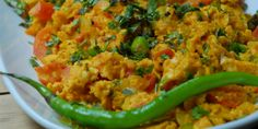 Eggs Bhurji -A popular spiced Indian breakfast dish. David Rocco's Dolce Vita