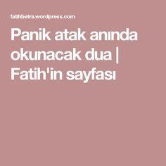Panik atak anında okunacak dua   Fatih'in sayfası Health Fitness, Ads, Quotes, Allah, Quotations, Fitness, Quote, Shut Up Quotes, Health And Fitness