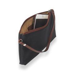 Your Bag, Your Way Wristlet, Black/Brown