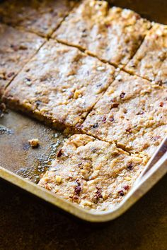 """Super easy 3 Step Paleo """"Baklava"""" Bars! healthy vegan friendly paleo baklava bars that are packed full of sweet nutty flavor and healthy fats. Lower in carbs, sugar, and great for snacking or breakfast on the go. A paleo bar that tastes like dessert but made with simple real food!"""