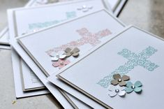 I need to make another sympathy card & I think I will use this very clean design First Communion Cards, Première Communion, Sympathy Cards, Greeting Cards, Confirmation Cards, Stamping Up, Clean Design, Christening, Cardmaking