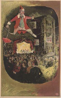 Lewin Bassingthwaite, The Circus, Vintage London Transport poster 1949