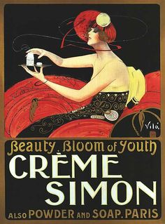 Advertisement for Crème Simon, 1920s
