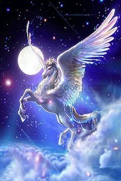 *PEGASUS ~ Born from death - Winged horse of the sky - Companion to Hero