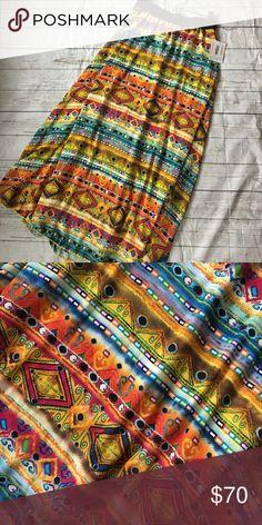 LuLaRoe Lucy Skirt Gorgeous colorful print with white lining. Brand new! LuLaRoe Skirts Maxi