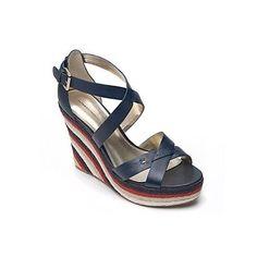 Tommy Hilfiger  #accessories #designer #fashion #style #shoes #espadrille #wedge #sandals #heels $79 (reg 89!)