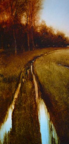 """""""Two Veins"""" by Renato Muccillo - 18x36 oil"""