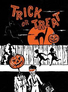 Halloween trick or treat bag...cute...