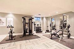 Lovely Home Gym Floor Over Carpet