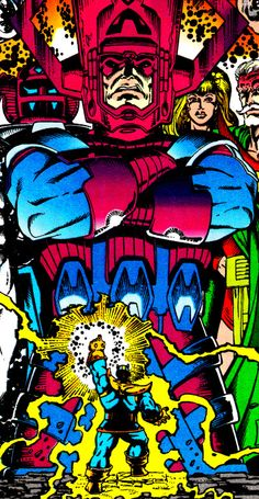 """The Infinity Gauntlet #5 (November 1991) """"Astral Conflagration"""" Cover Art by Ron Lim & George Perez"""