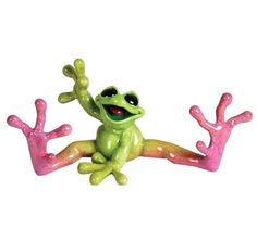 Kitty's Critters 8530 Goodbyes Frog Figurine, 3-1/2-Inch Tall, Multi-Colored Kitty's Critters