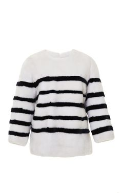 Shop Striped Mink Pullover by Kule Now Available on Moda Operandi