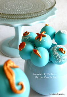 Sea Shell Cake pops- j bday