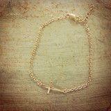 Side Cross Bracelet :)
