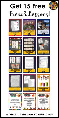 254 best french world language cafe lesson plans images on pinterest french teaching resources. Black Bedroom Furniture Sets. Home Design Ideas