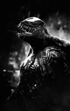 """Venom - is it weird that I fangirl Venom more than actual Spiderman? I feel the one who plays Parker on the first movies has a dumb face... I was just like """"KILL HIM ALREADY VENOM!"""" the whole movie!!! I find Venom attractive .-. Not in his human form... In the suit .-."""