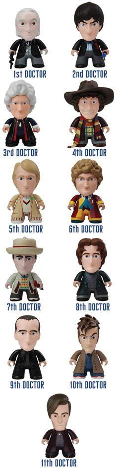 I wanna see them battle each other like Pokemon. | 50th Anniversary Titan 11 Doctors Mini Figures Update