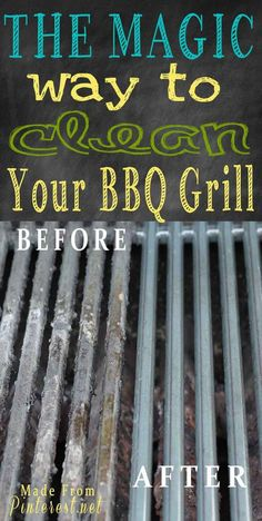 Magic Way to Clean Your BBQ Grill - Great to know before we start firing up the grill several nights a week when it gets warm!