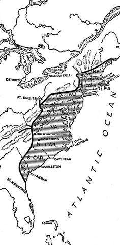 Frontier Line of The Colonies in 1774