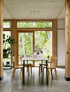 DELIN ARKITEKTKONTOR Villa, Compact Living, Scandinavian Home, Dining Room Design, Prefab, Small Apartments, Construction, House Design, Interior Design