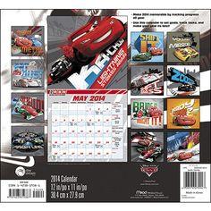 Disney Cars 2 2014 Wall Calendar   Disney   CALENDARS.COM