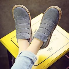 9135963c5fb1 Elastic Slip On Pure Color Ankle Flat European Style Boots