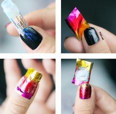 nail art foils pour débutantes