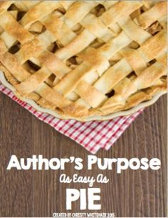 4 activities + posters to review and understand finding the author's purpose. Too Cool For School, School Stuff, Pie Game, Authors Purpose, Language Arts, Posters, Activities, Easy, Poster
