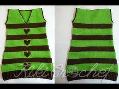 Πλεκτο Μπλουζοφορεμα (μερος 4ο- κοψιματα στο V και τα μανικια) / Crochet...