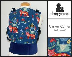 'Nell Hunter' is an exquisite example of a beautiful made-to-order luxury Sleepy Nico baby carrier. The design is simply stunning, just goes to show how much taste our customers have 😉 Ergonomic Baby Carrier, Vera Bradley Backpack, Fashion Backpack, Luxury, Bags, Beautiful, Design, Handbags, Taschen