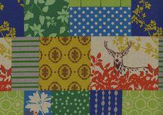 Kokka Fabrics Echino Green Forest